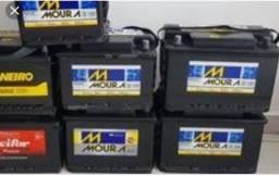 Bateria 60 amperes semi nova a partir de R$ 100,000