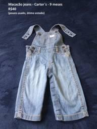 Macacão Jeans Carter's - 9 meses