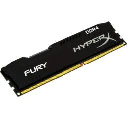 Memória HyperX Fury, 4GB, 2400MHz, DDR4, CL15, Preto - HX424C15FB3/4