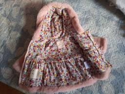Jaqueta bebê pelúcia - rosa