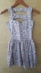 Vestidinho algodão floral - 8 a 10 anos -semi usado