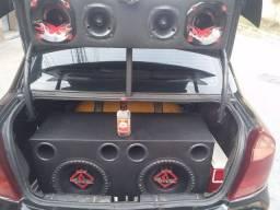 Vendo/troco som automotivo +bateria auxiliar pro som