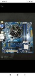 Título do anúncio: placa mãe com processador I 5 intell