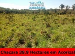 Título do anúncio: Chácara 38,9 hectares a 9 km de Acorizal