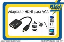 Título do anúncio: Adaptador Hdmi para Vga c/ audio