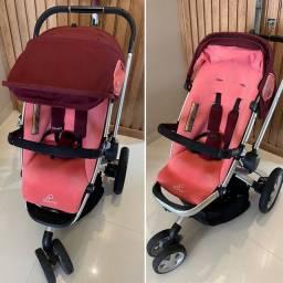 Carrinho de bebê quinny buzz pink emily