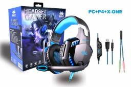 Título do anúncio: Headset Gamer Pc Ps4 X One Mobile P3 Fone Gamer Kp 455a