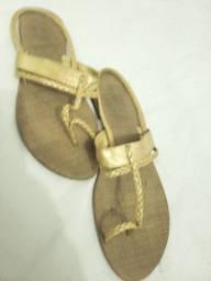 ChinelinhoTiras Douradas - 39