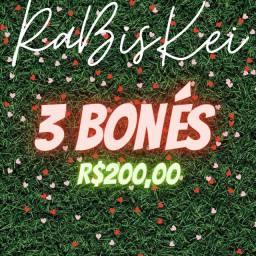 3 bonés RaBisKei