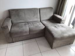 Sofá chaise 3 lugares