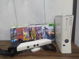 Xbox 360 Slim 250gb Bloqueado Branco Conservado