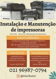 Título do anúncio: Instalação e Manutenção de impressoras, multifuncionais e scanners