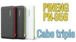 Carregador Portátil 10.000mah  3 Saídas  Pineng Pn-956