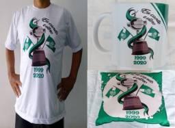 Camiseta, Caneca e Almofada Palmeiras Campeão da Libertadores 2020