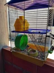 Gaiola para hamster, com duas ramster