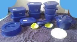 Vendo KIT BEA da Tupperware Azul 13 peças Leia o anúncio