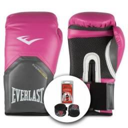 f96a459a0d Kit Luva Everlast Pro Style Elite Protetor Bucal e Bandagem 12Oz