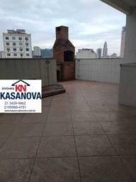 KFCO40012 - Rua do Riachuelo 4 quartos sendo cobertura duplex COM terraço amplo