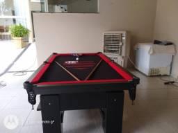 Mesa Charme de Sinuca e Jantar Cor Preta Tecido Preto Flamengo FYBW3352