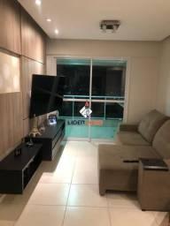 Líder imob - apartamento alto padrão mobiliado para locação, 3 quartos, 1 suíte, no santa
