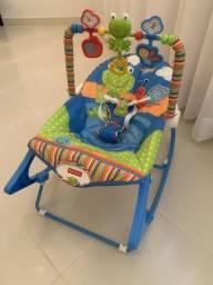 Cadeira de Descanso Musical Minha Infância Sapinho Colorido - Fisher Price