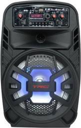 Caixa de Som Karaokê 100w Bluetooth TrC 510 * 44x23x29 * Entrega Grátis