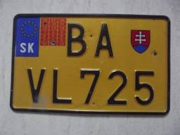 Placa,Carro,Eslováquia,Original, Importada,Tenho muitas outras.