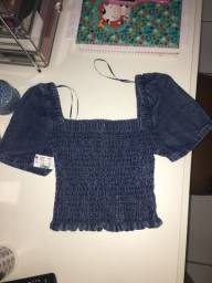 Blusa cropped Renner jeans