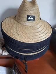 Chapéu de palha Quiksilver trancado a mão