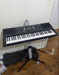 Teclado Yamaha - psr e343 (suporte + bag + pedal)