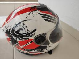 Capacete Helt Race Glass Wings com viseira