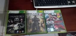 Jogos de Xbox360 e controle