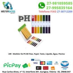 249 - Medidor De Ph 80 Fitas, Papel, Teste, Líquido, Água, Piscina