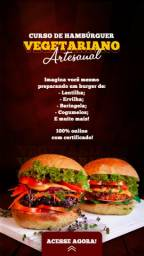 Curso online de Hambúrguer Vegetariano Artesanal