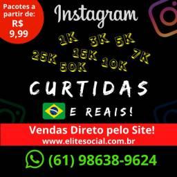 Curtidas Instagram (1OOO) - (Brasileiros, Ativos, Reais)