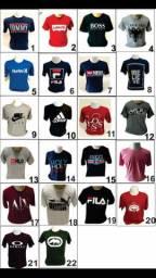 Kit com 10 camisetas. Estampas variadas 159,90