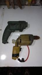 2 Furadeira Black Decker Bosch Hobby 400w 127v P/ Peças