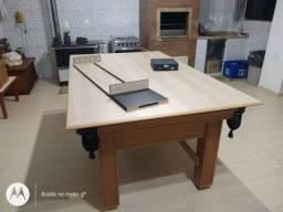 Mesa Tentação Faça o Pedido Cor Cerejeira Tecido Preto Mod. CEJG3091