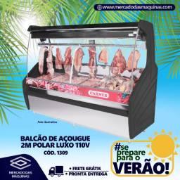 Balcão de açougue para carnes Polar luxo 2m Novo Frete Grátis