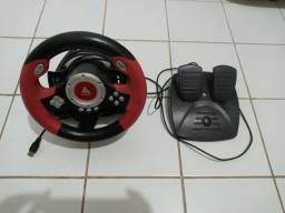 Kit volante e pedal para vídeo game ou computador