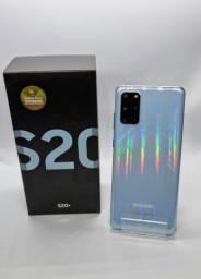Título do anúncio: ?Samsung Galaxy s20 Plus 128Gb Azul  Semi Novo