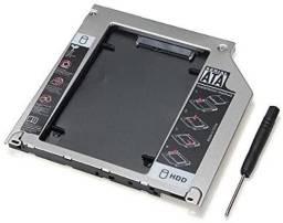 Case Adaptador Caddy Dvd HD Ssd 2.5 Sata Notebook - Entrega Grátis