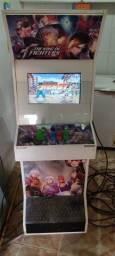 Fliperama 1000 jogos Novo adesivado 2 telas (casa jogador fica de um lado)