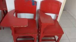 Cadeiras escolares com braço