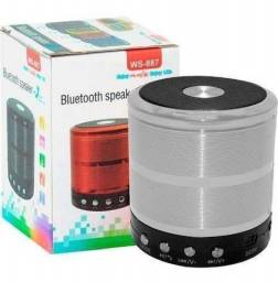 Título do anúncio: Caixa de Som Bluetooth Recarregável - USB Micro SD Auxiliar WS-887