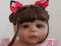 Bebê Reborn Keiumi Toda em Silicone, Menina 55 cm Disponível