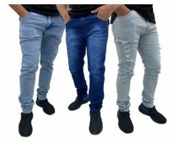 Título do anúncio: Calças jeans lycra masculina__varejo e atacado entrega a domicílio Jp e região