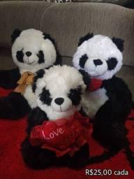 Ursos pelúcia (Pandas)
