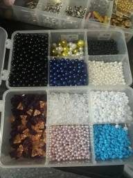 Pérolas,pedrarias,artesanato customizados