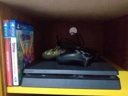PS4 + USB + Controles + Jogos físicos + HDMI